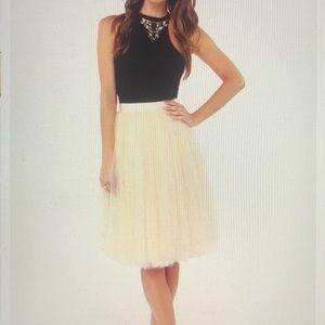 Lulus All In Good Cheer Peach Tulle Skirt